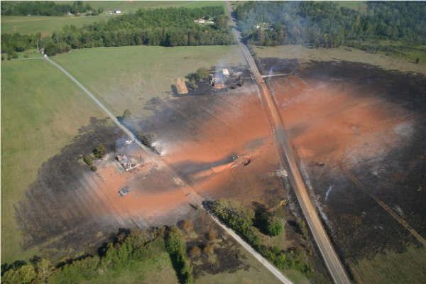 Williams Transco explosion in Appomattox Virginia 20081114