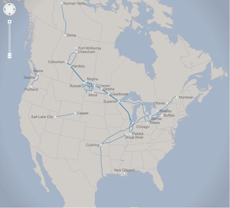 liquids map NA