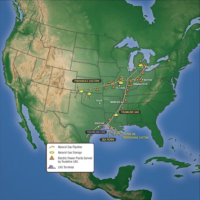 trunkline map