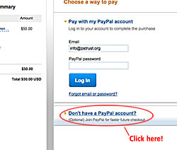 Don't have a PayPal Account?