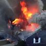 Gas explosion fire in Boston area