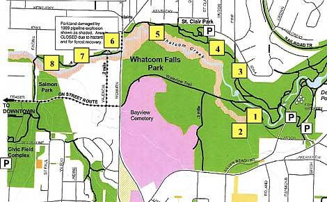 Whatcom Creek Interpretive Memorial Walk Trailmap